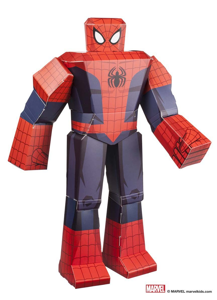 Figura De Dobrar Blueprints Marvel Homem Aranha 12 Beek Geek S