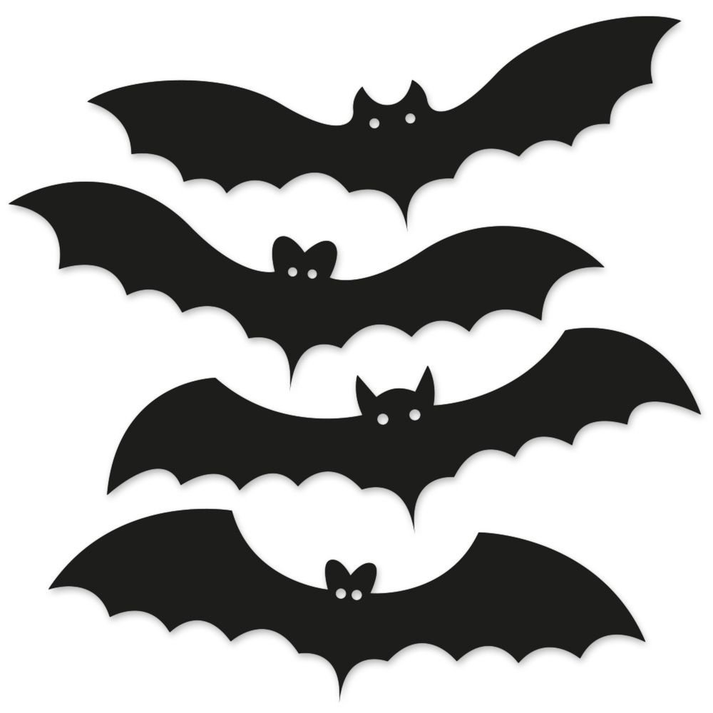 Kit Placas Decorativas 28x9 Halloween Morcegos Beek Beek