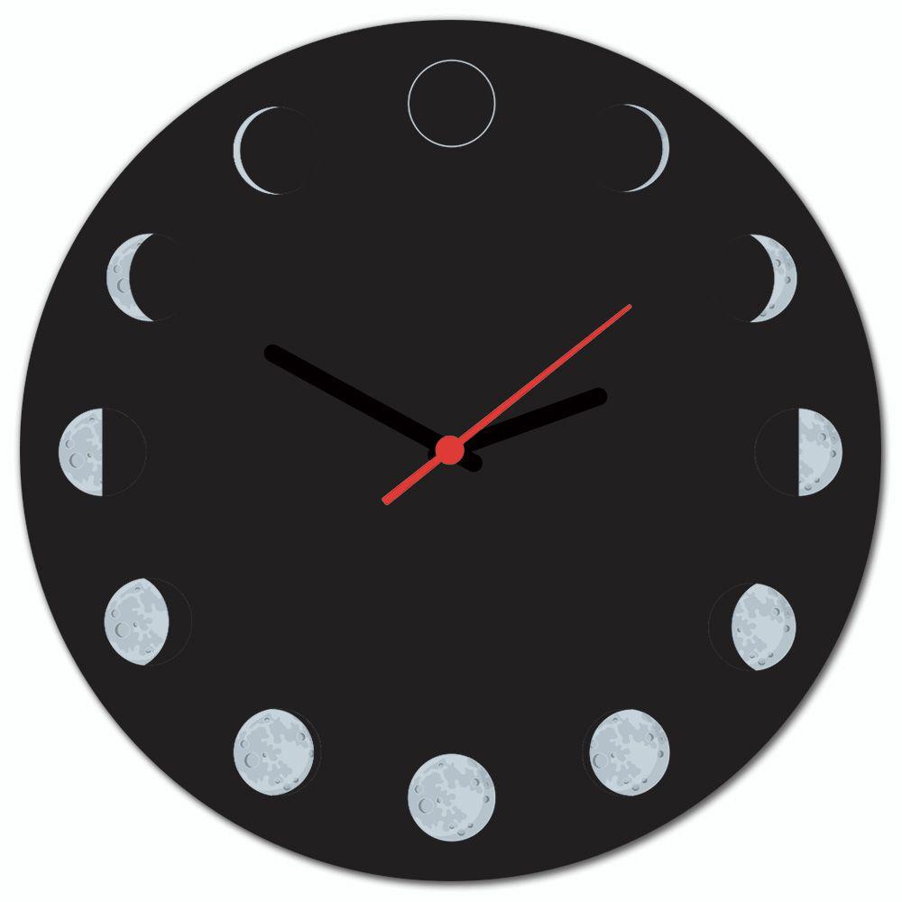 e3051416836 Relógio de Parede Beek FASES DA LUA - Beek Geek s Stuff