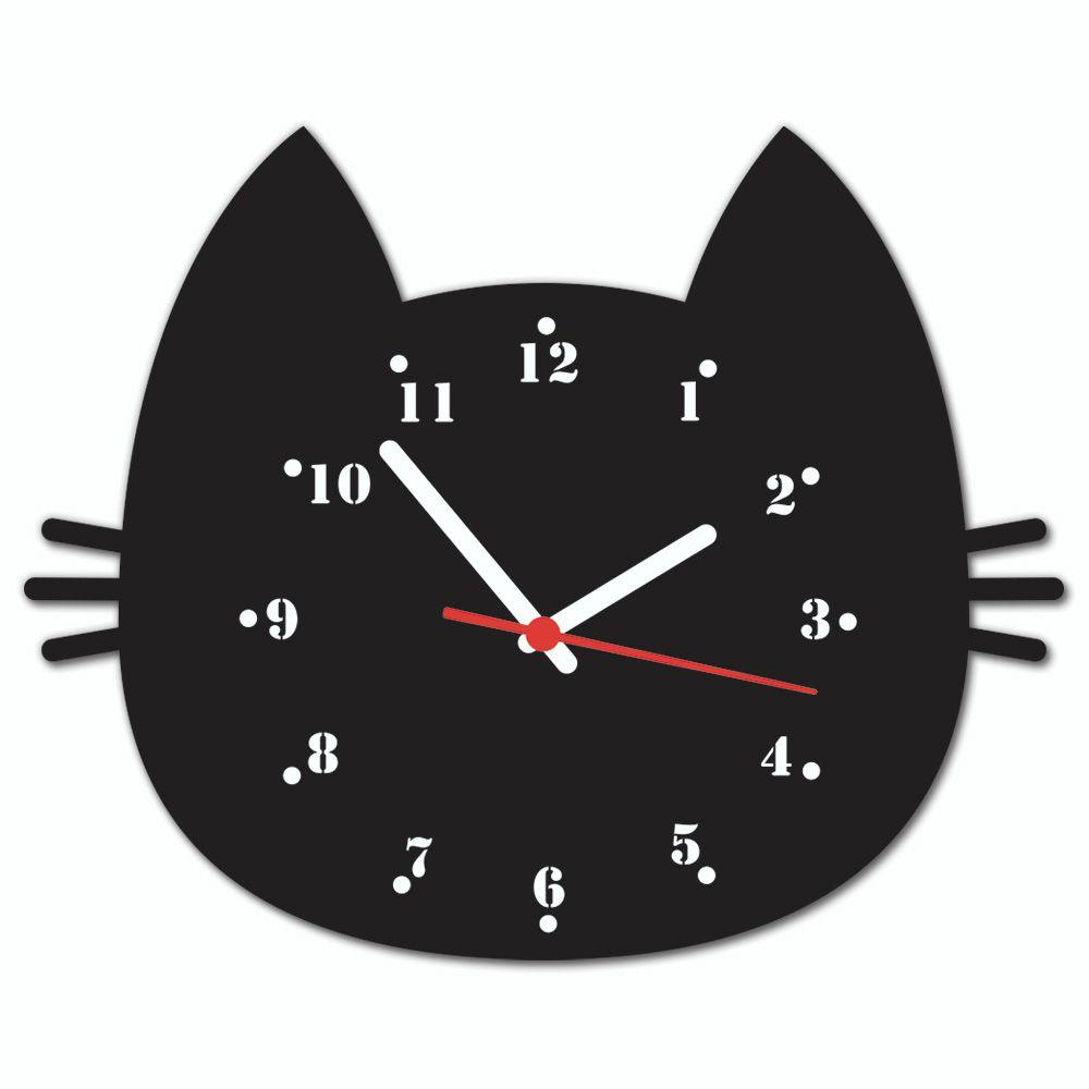 a99213d1439 Relógio de Parede Beek GATO PRETO