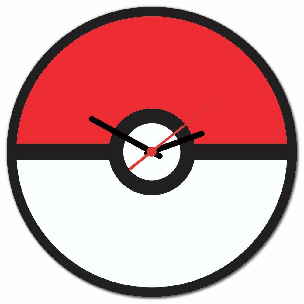 8bee06fdb92 Relógio de Parede Beek pokebola - Beek Geek s Stuff