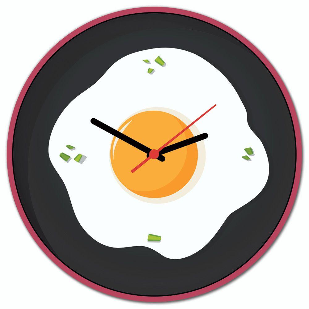 72f3dc45ff5 Relógio de Parede Beek OVO FRITO - Beek Geek s Stuff
