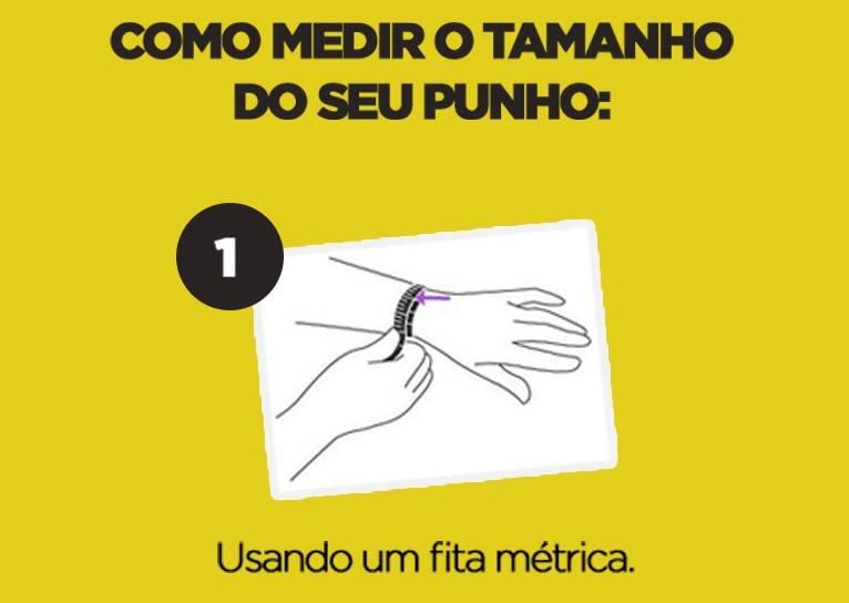 como medir o punho