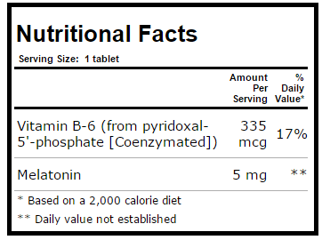 - melatonina sup facts 5mg - Melatonina Sublingual Sabor Laranja, Source Naturals, 5 mg, 200 Tablets