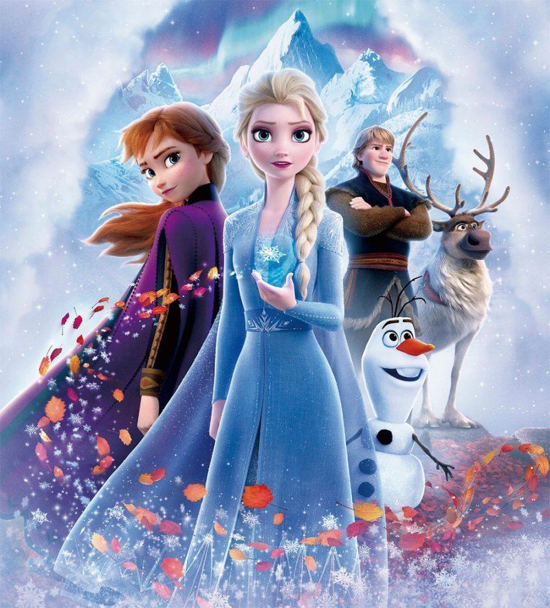 Tecido Frozen Fever, Ana, Elza e Olaf.