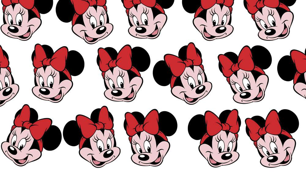 Tecido Minnie Mouse Disney Estampa Sublimada.