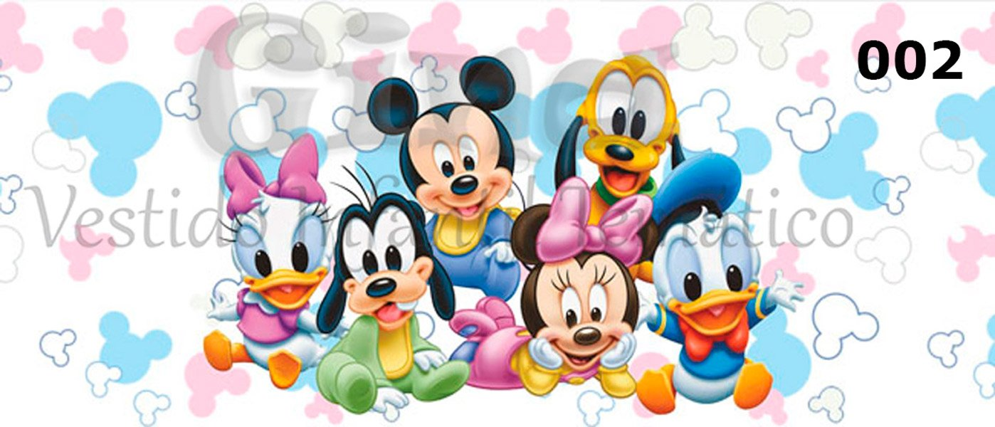 Tecido Minnie Mouse Disney Minnie Rosa Estampa Sublimada.