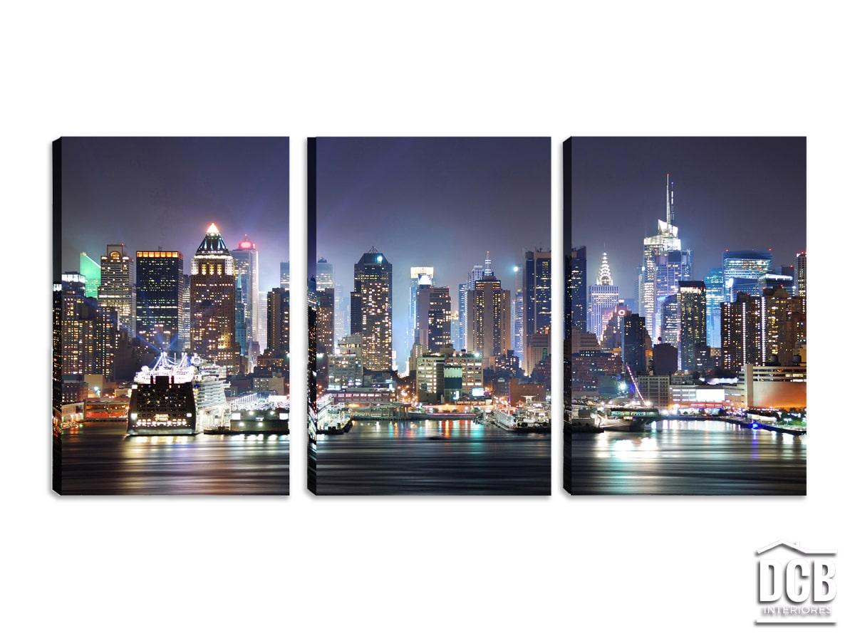 Quadro Decorativo New York Paisagem 60x120 Centímetros