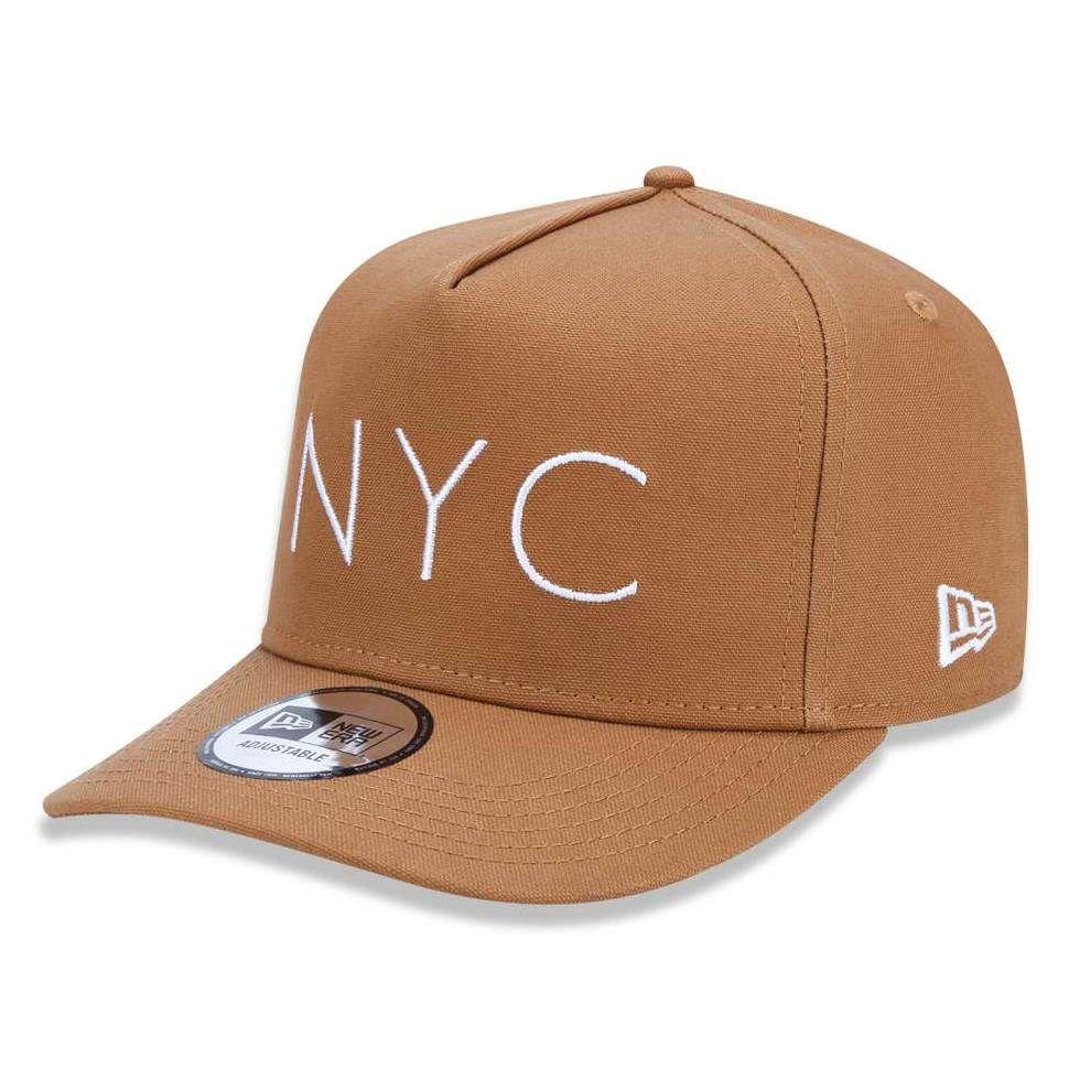 Boné New Era 940 NYC New York City Caqui - Radical Place - Loja ... f356f40df195b
