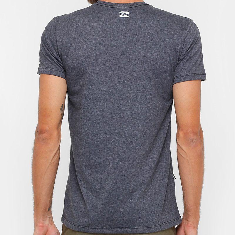 Camiseta Billabong Static Block Cinza Escuro - Radical Place - Loja ... d6258d31374