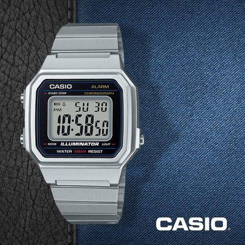 31b75cb4d08 Relógio Casio Vintage B650WD-1ADF Preto Prata - Radical Place - Loja ...