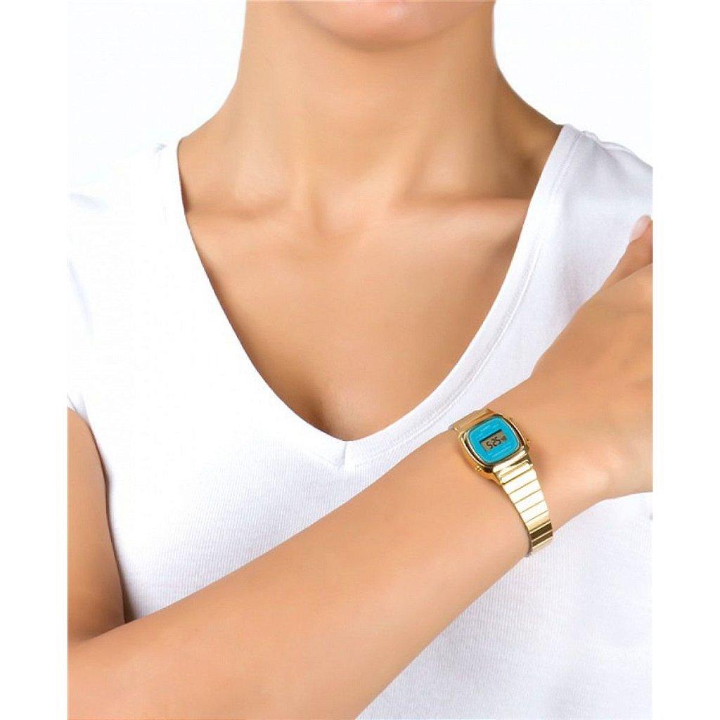 63e104a335e Relógio Casio Vintage LA670WGA-2DF Azul Dourado - Radical Place ...