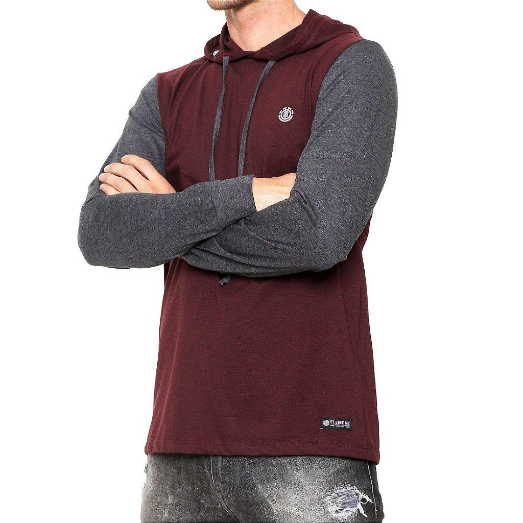 f609d4f75 Camiseta Element Manga Longa Brayden Vinho Cinza - Radical Place ...