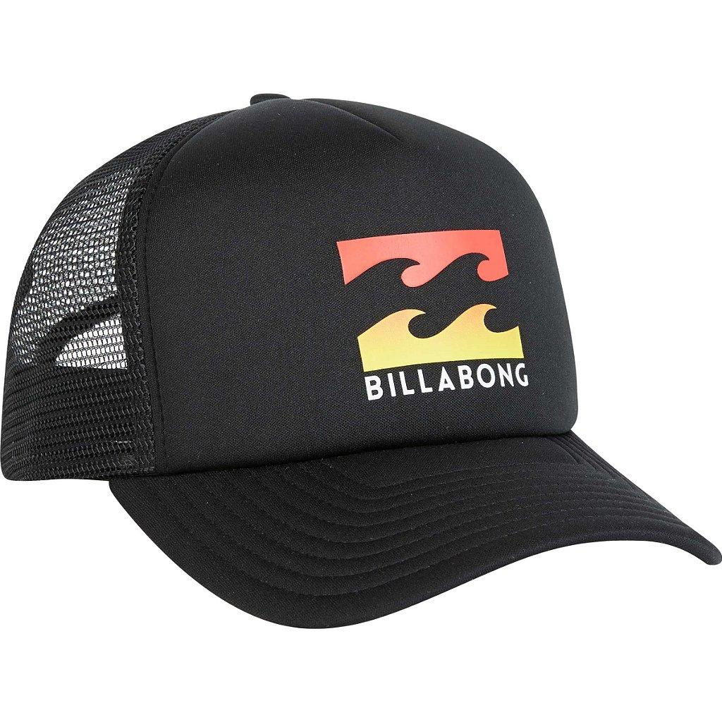 Boné Billabong Podium Trucker Preto Laranja - Radical Place - Loja ... 7334b1dd6ad