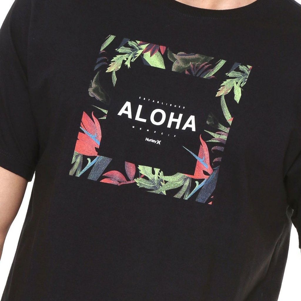 Camiseta Hurley Silk Hawaii Hunt Preta - Radical Place - Loja ... ea813e951c8