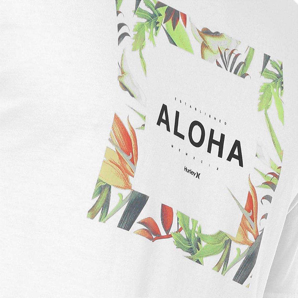Camiseta Hurley Silk Hawaii Hunt Branca - Radical Place - Loja ... 6b3503112b2