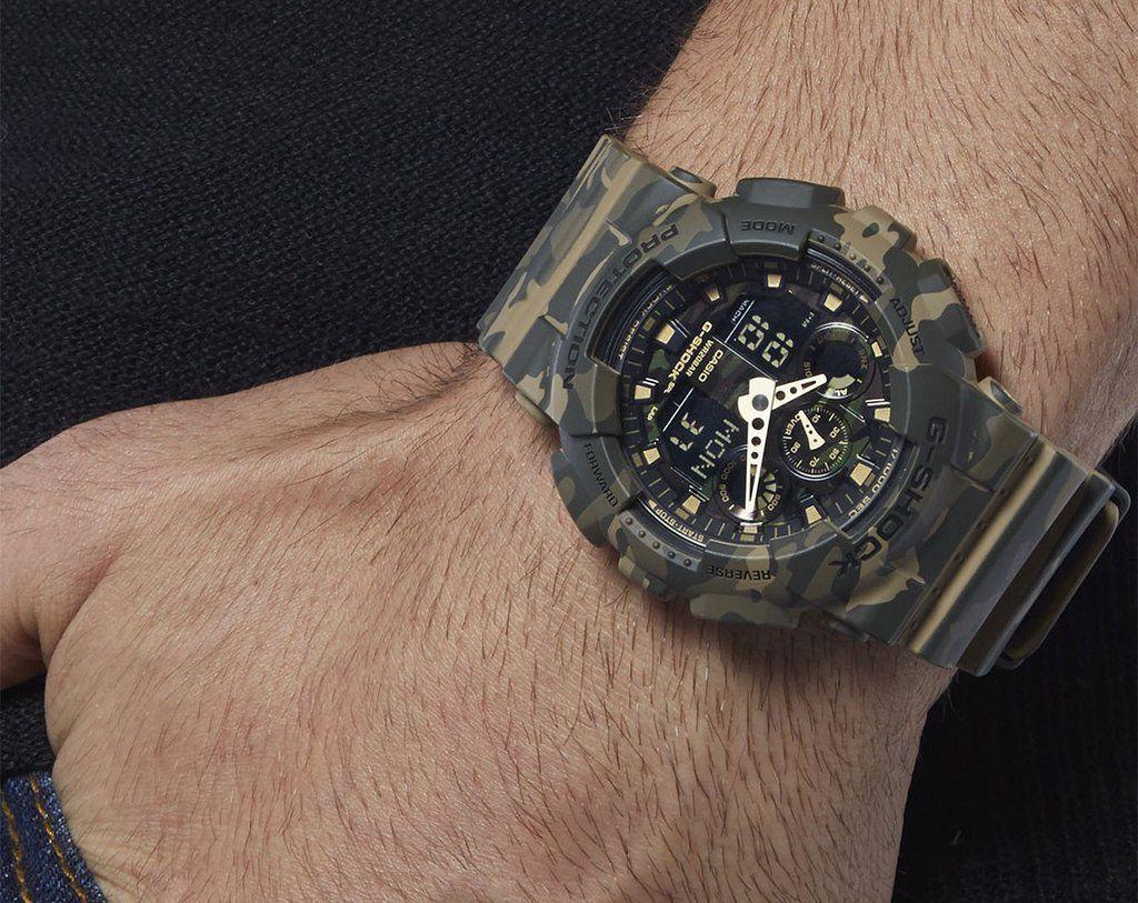 6e0add14001 Relógio G-Shock GA-100CM-5ADR Marrom Verde - Radical Place - Loja ...