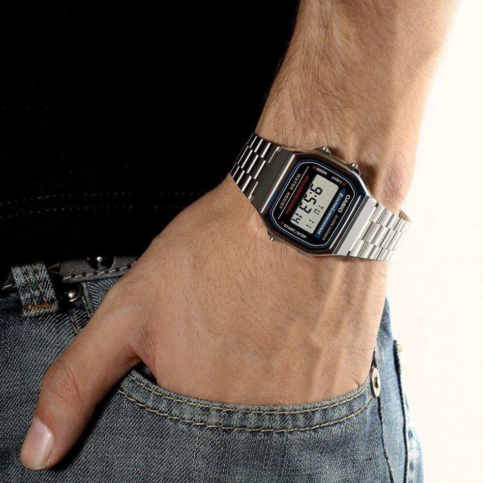 17c75e30336 Relógio Casio Vintage A168WA-1WDF-BR Prata - Radical Place - Loja ...