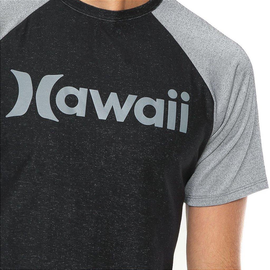Camiseta Hurley Especial Hawaii Preta Cinza - Radical Place - Loja ... 5e20754daad