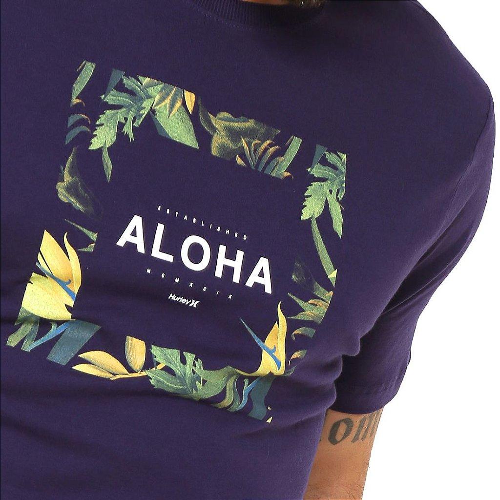 Camiseta Hurley Silk Hawaii Hunt Roxa - Radical Place - Loja Virtual ... 63166745e2a