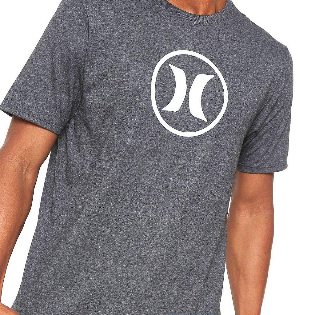 9eda3f024eb3a Camiseta Hurley Silk Circle Icon Cinza Escuro - Radical Place - Loja ...