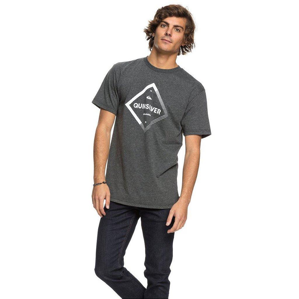 Camiseta Quiksilver Diamond Spirit Cinza Escuro - Radical Place ... fb498b58272