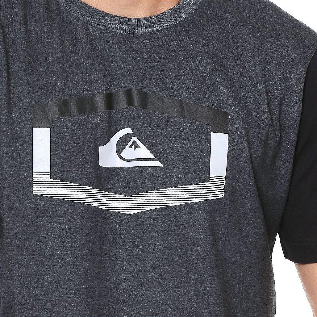 c84ee3ede6da5 Camiseta Quiksilver Tripple Preta - Radical Place - Loja Virtual de ...