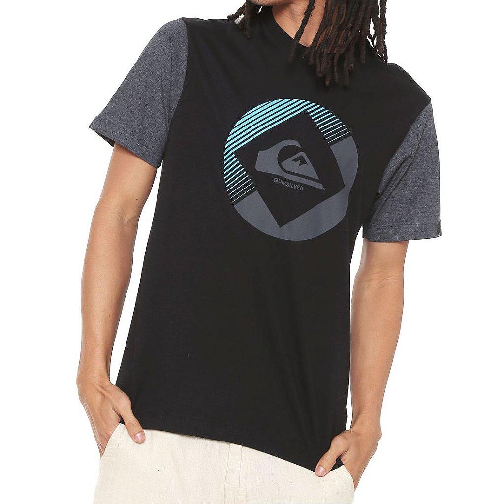 cb0f4918f25d2 Camiseta Quiksilver Second Preta - Radical Place - Loja Virtual de ...