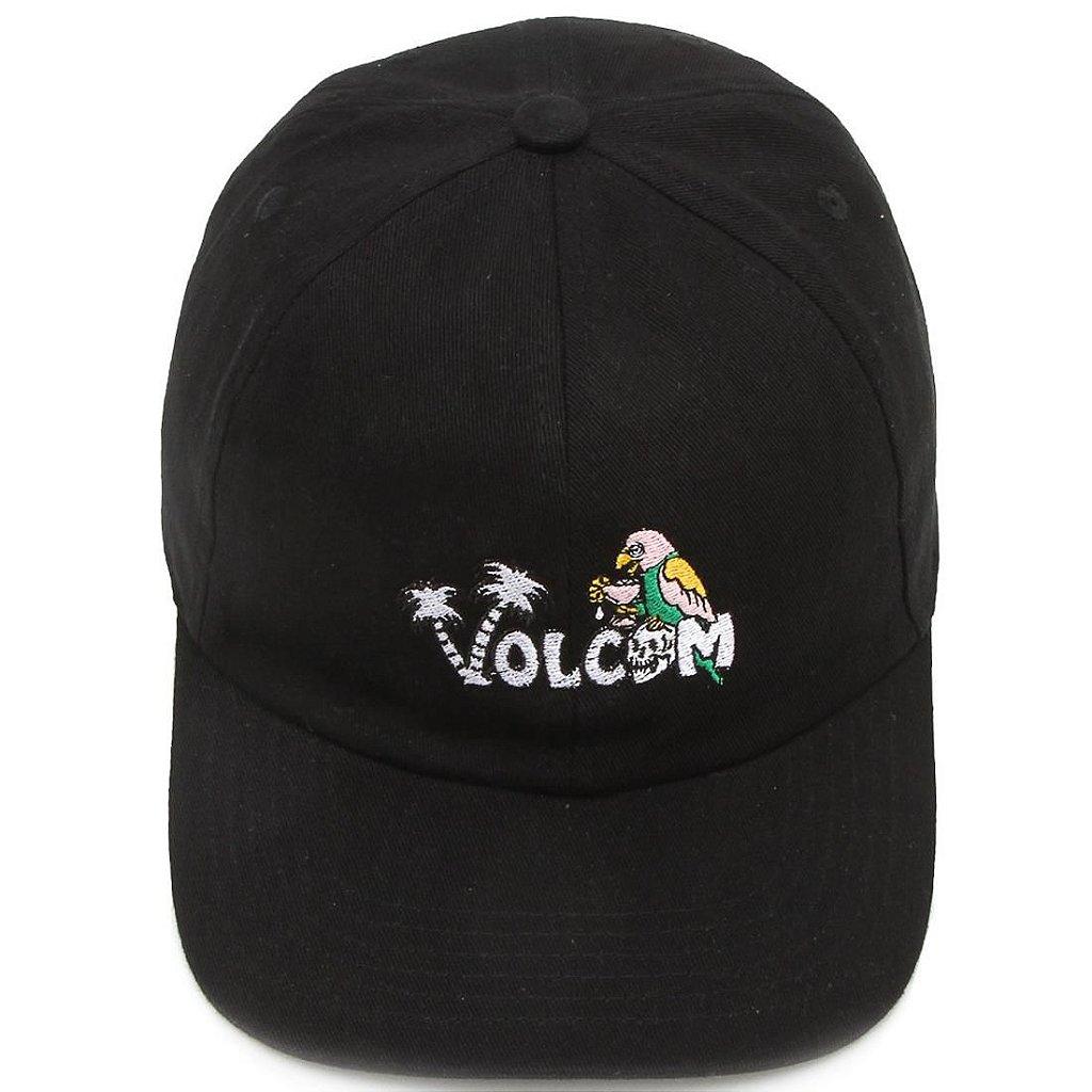Boné Volcom El Loro Preto - Radical Place - Loja Virtual de Produtos ... cd15e9ba537