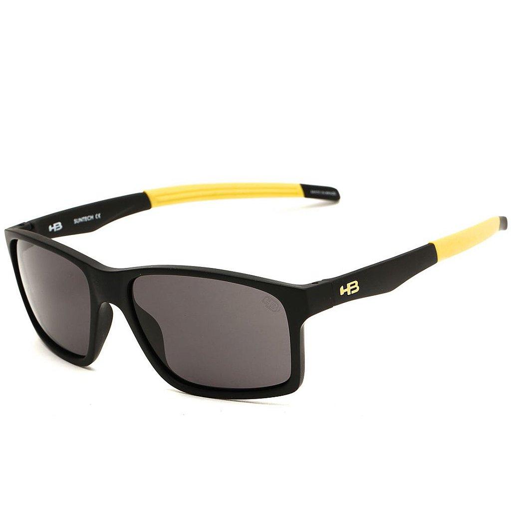 d1330b67a64c4 Óculos de Sol HB Mystify Matte Black Dark Yellow I Gray - Imagem 1 ...