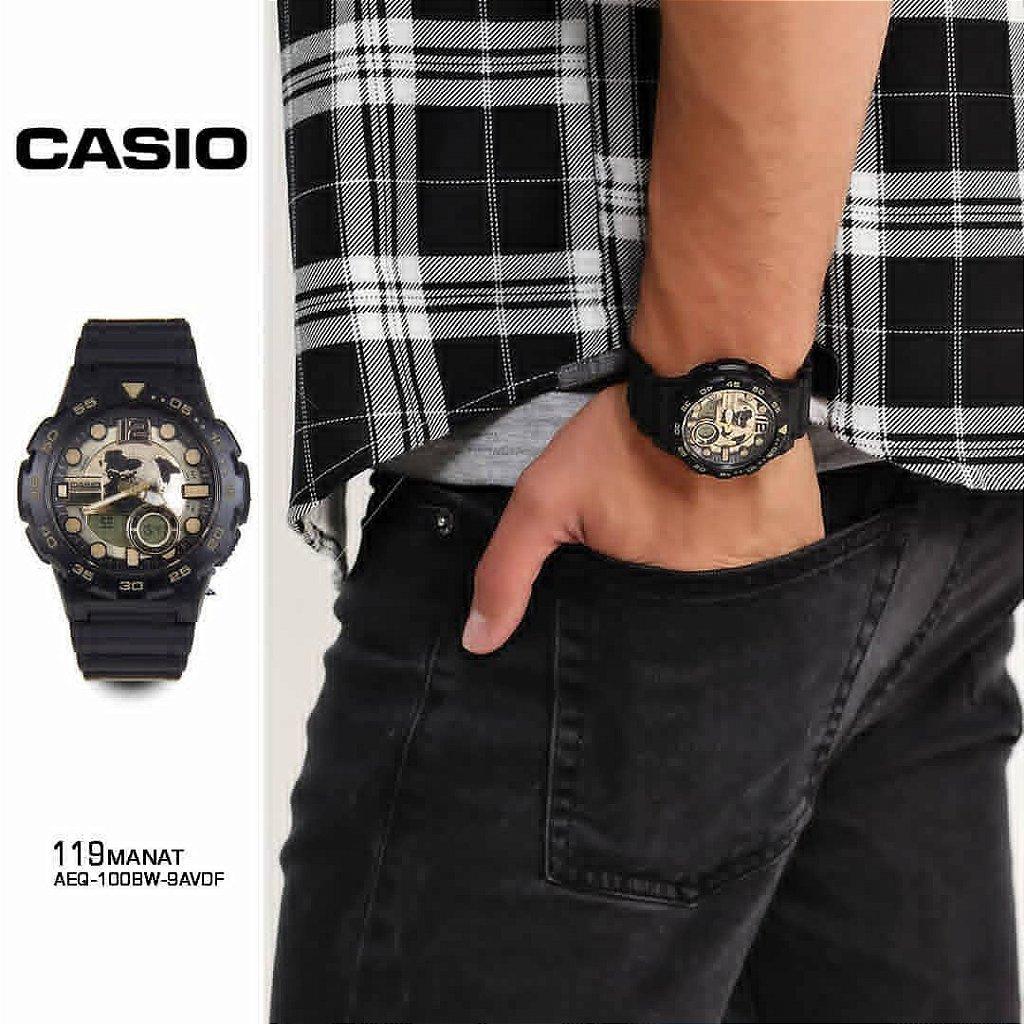 4c79690ad55 Relógio Casio Standard AEQ-100BW-9AVDF Preto Dourado - Radical Place ...