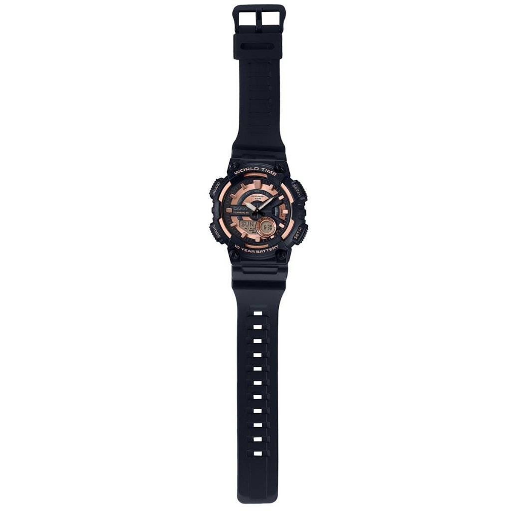 7298e5cca86 Relógio Casio Standard AEQ-110W-1A3VDF Preto Rosa - Radical Place ...