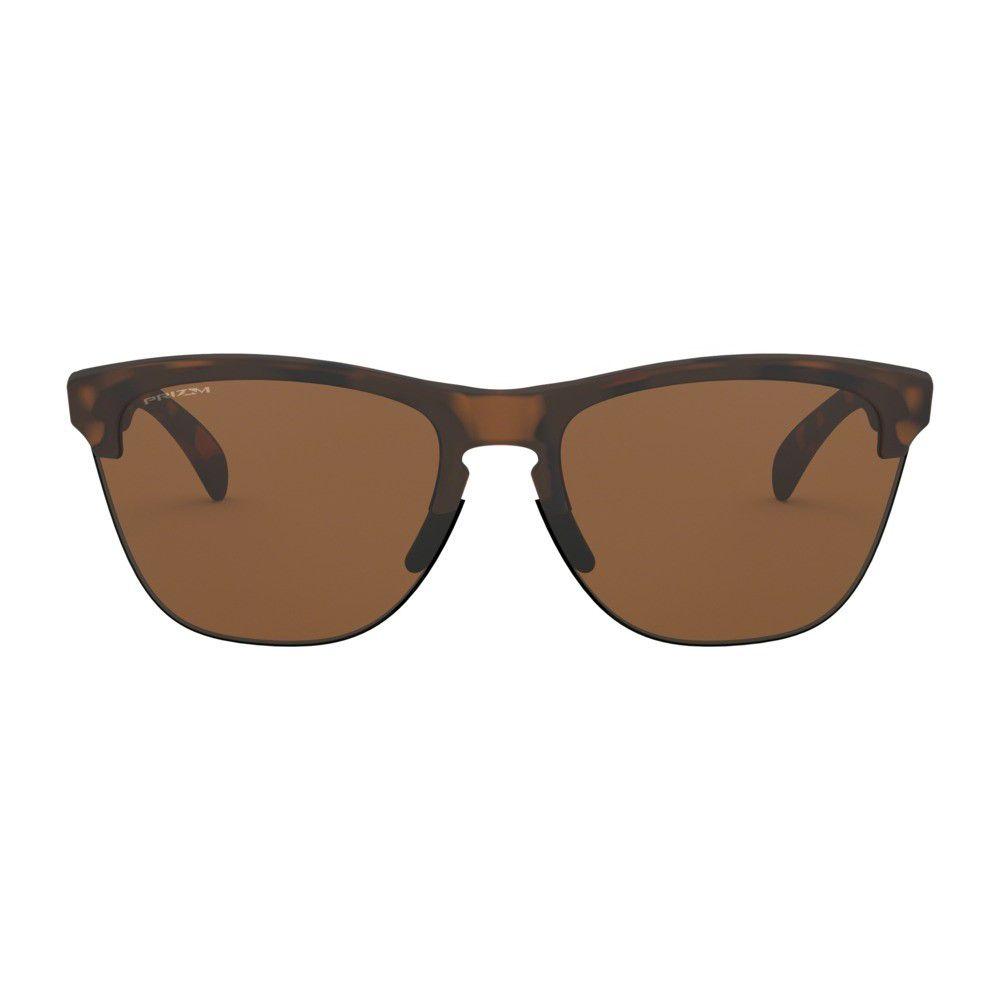 a2ad2ea30 ... Óculos de Sol Oakley Frogskins Lite Matte Brown Tortoise W/ Prizm  Tungstein - Imagem 3 ...