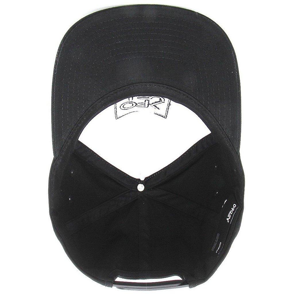 020bb7de0b Boné Oakley Snapback Logo Branco/Preto - Radical Place - Loja ...