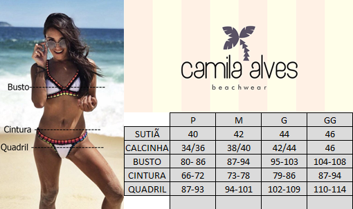 1c297f990 Tomara que Caia Frufru e Tanga Ripple Preto - Camila Alves Beachwear
