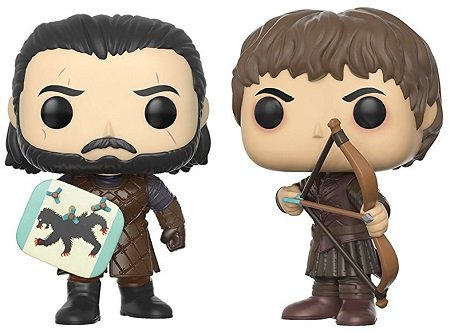 Bonecos Funko Pop Brasil - Game of Thrones - Jon Snow & Ramsay Bolton - Battle of the Bastards