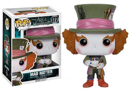 Bonecos Funko Pop Brasil - Alice in Wonderland - Mad Hatter