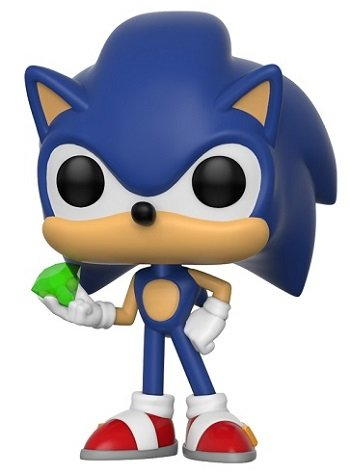 Bonecos Funko Pop Brasil - Sonic with emerald