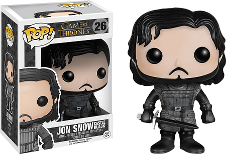 Bonecos Funko Pop Brasil - Game of Thrones - Jon Snow Black Castle