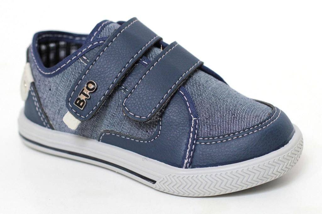 74ae9aa39b4 Sapatênis Masculino Infantil Jeans Azul Casual BTO Kids Botinho Velcro Sola  TR