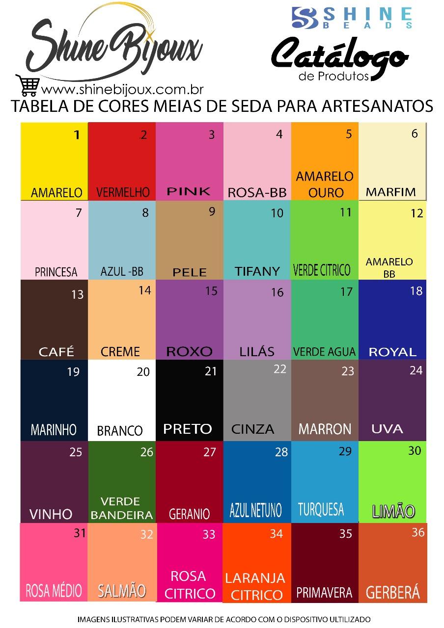 TABELA DE CORES MEIAS DE SEDA