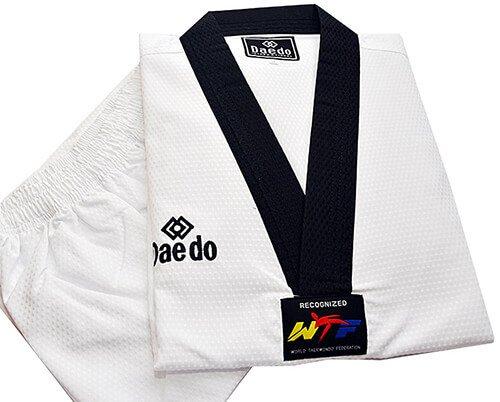Dobok Kimono Taekwondo Daedo Extra Dry Gola Preta