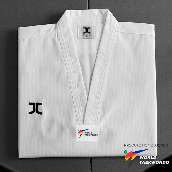 Dobok Kimono Taekwondo JCalicu CLUB Gola Branca com faixa