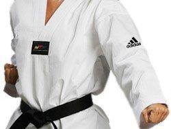 Dobok Kimono Taekwondo Adidas Adi-Start Adulto Gola Branca
