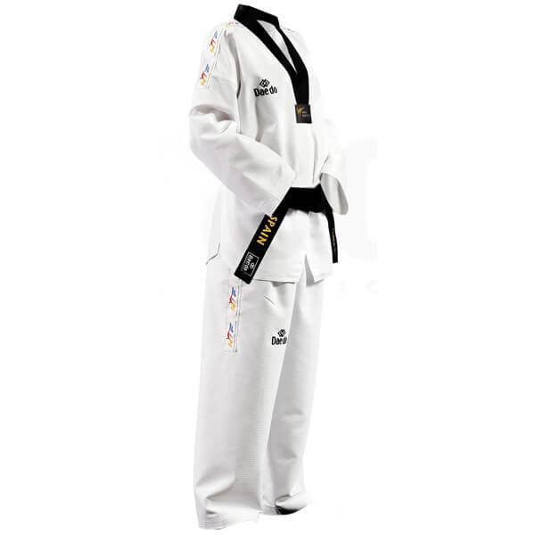 Dobok Kimono Taekwondo Daedo HI-DRY Gola Preta