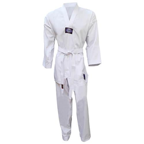 Dobok Kimono Taekwondo Sung-Ja Adulto Gola Branca com Faixa