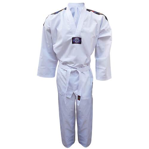 Dobok Kimono Taekwondo Sung-Ja Olimpic Adulto Gola Branca
