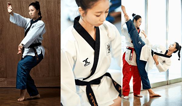 Dobok Kimono Poomsae Jcalicu CLUB Dan Feminino