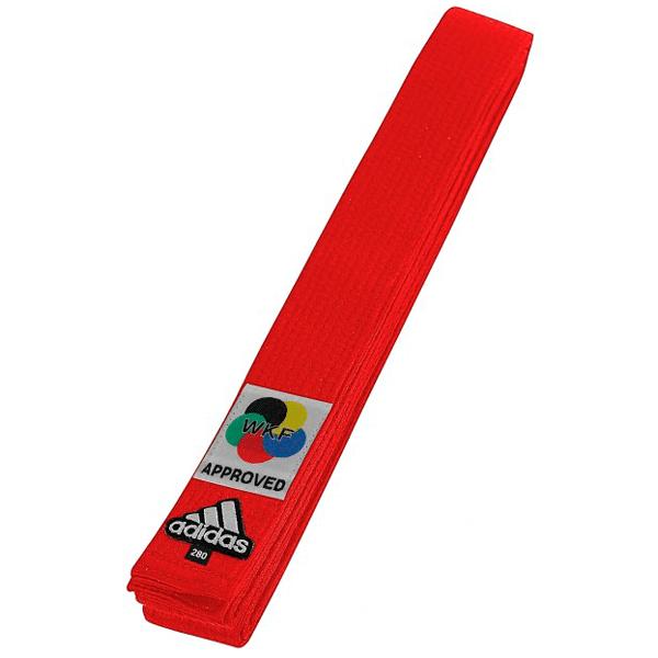 Faixa Vermelha Adidas Elite Karate homologada WKF
