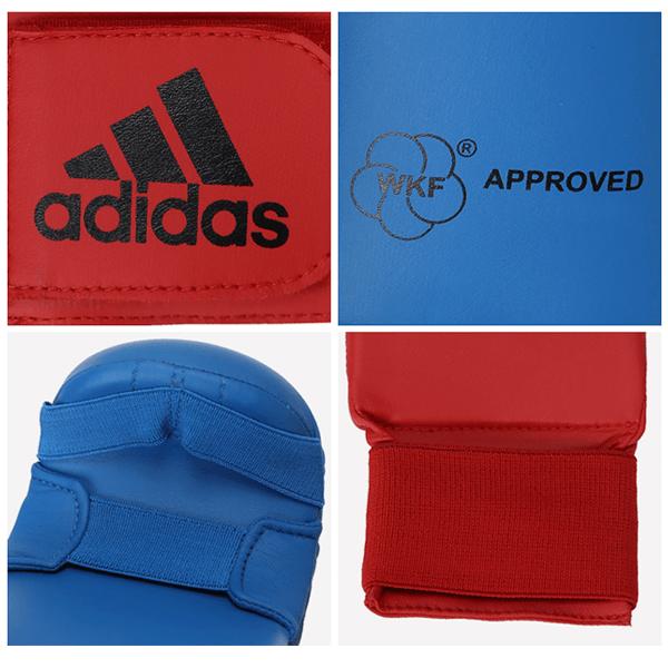 Luva Adidas Karate WKF Azul Sem Proteção do Dedo Polegar